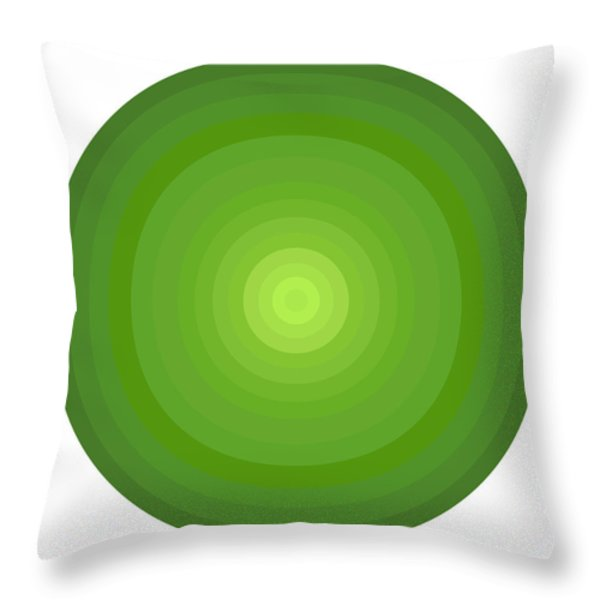 Green Circles Throw Pillow by Frank Tschakert