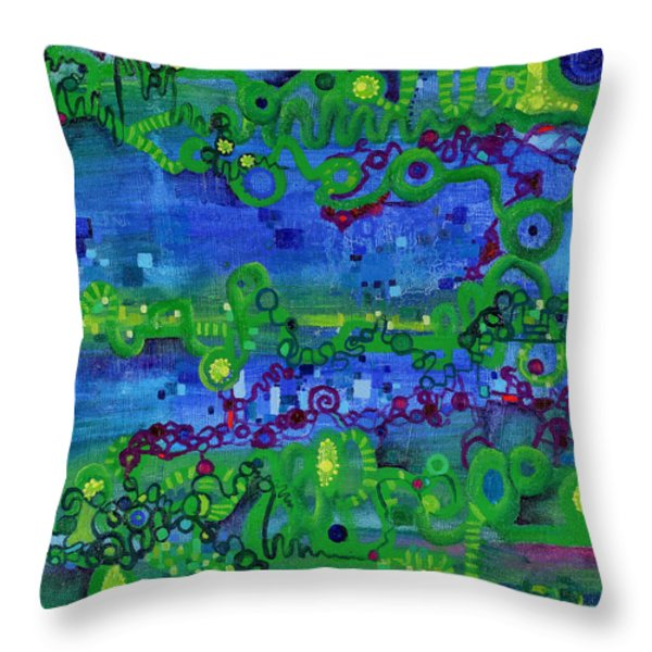 Green Functions Throw Pillow by Regina Valluzzi