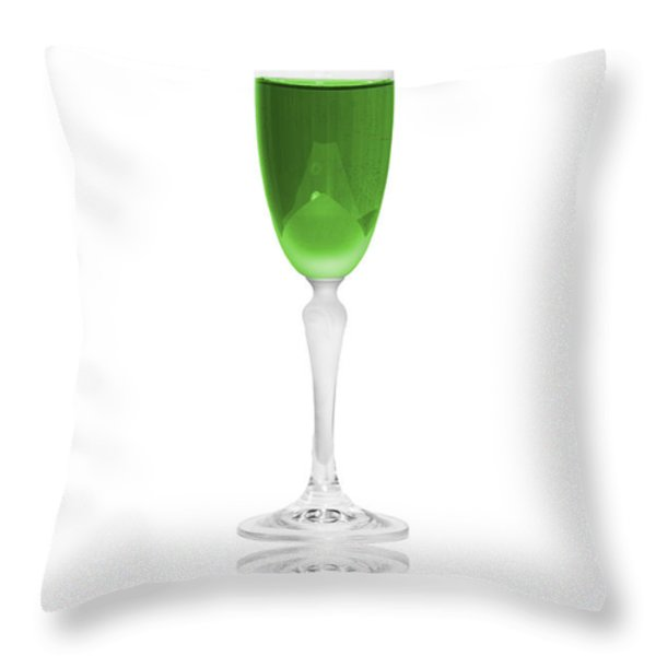 Green is the color Throw Pillow by Erik Brede