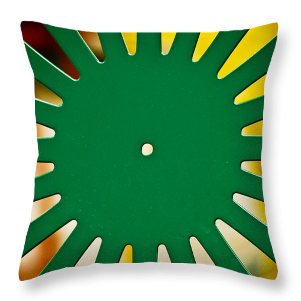 Green Memorial Union Chair Throw Pillow by Christi Kraft