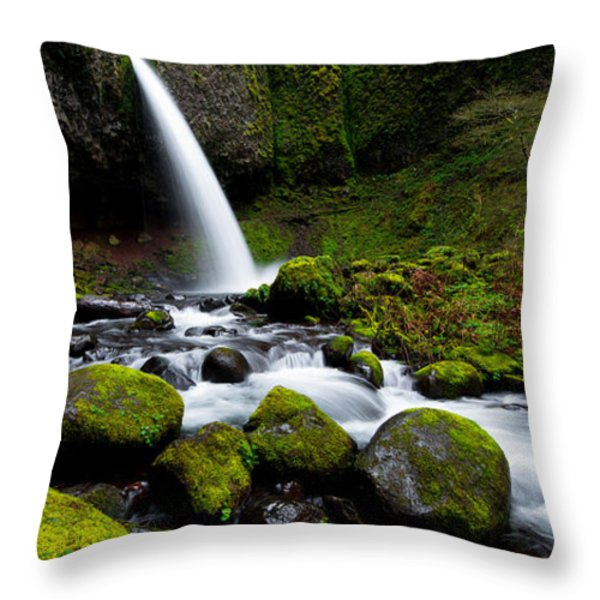 Green Mile Throw Pillow by Chad Dutson