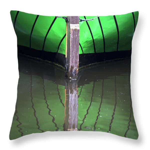 Green Reflection Throw Pillow by Heiko Koehrer-Wagner