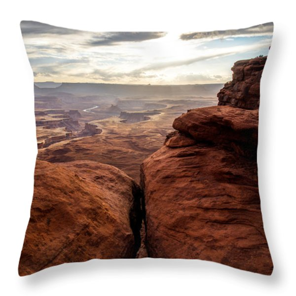 Green River View Throw Pillow by Dustin  LeFevre