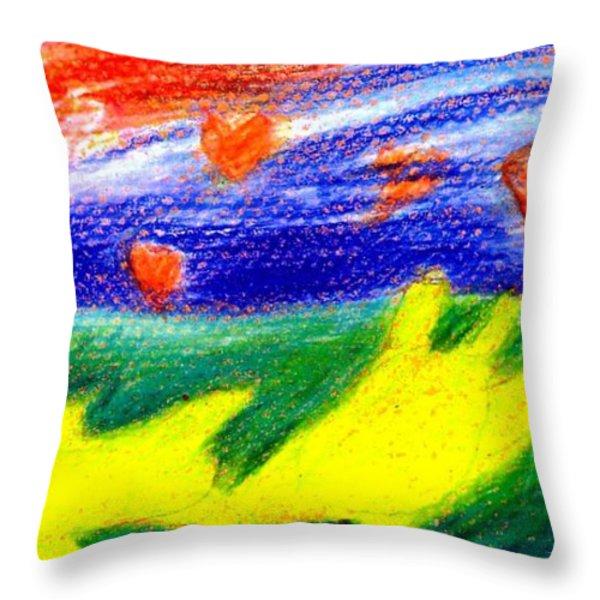 Green Sean Turtles Throw Pillow by Genevieve Esson