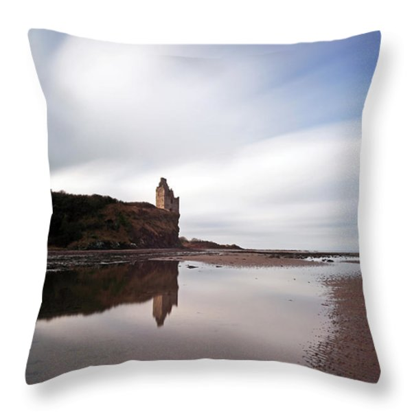 Greenan Castle Throw Pillow by Grant Glendinning