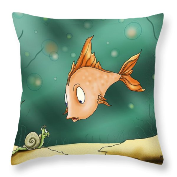 Greetings Throw Pillow by Hank Nunes
