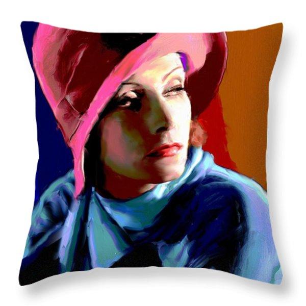 Greta Garbo Throw Pillow by Allen Glass