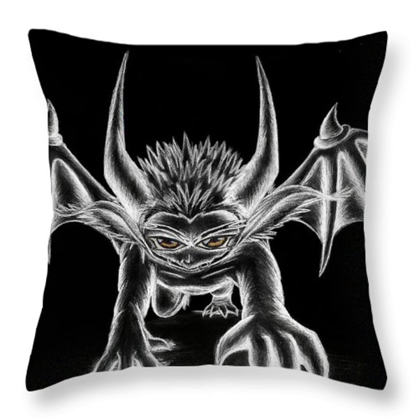 Grevil Chalk Throw Pillow by Shawn Dall