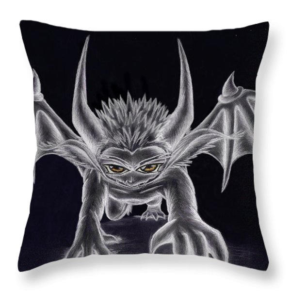 Grevil Silvered Throw Pillow by Shawn Dall