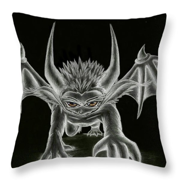 Grevil Statue Throw Pillow by Shawn Dall