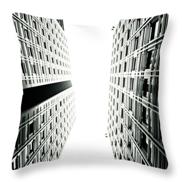 Grids Lines and glass structure - Google London Offices Throw Pillow by Lenny Carter