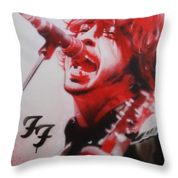 'Grohl II' Throw Pillow by Christian Chapman