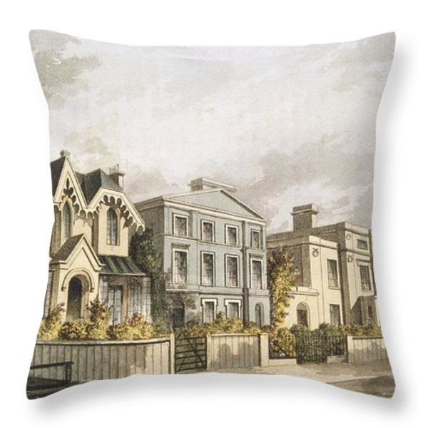 Group Of Villas In Herne Hill Throw Pillow by English School