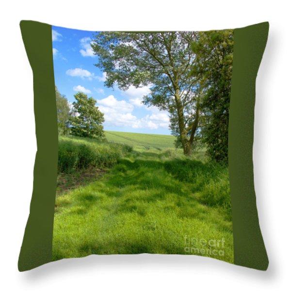 Growing Green Throw Pillow by Ann Horn