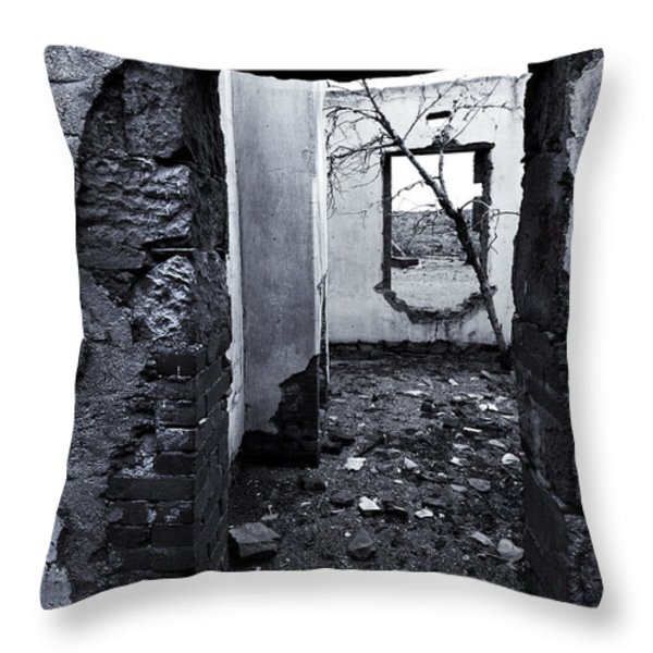 Growing Out Of Ruin Throw Pillow by Mike  Dawson