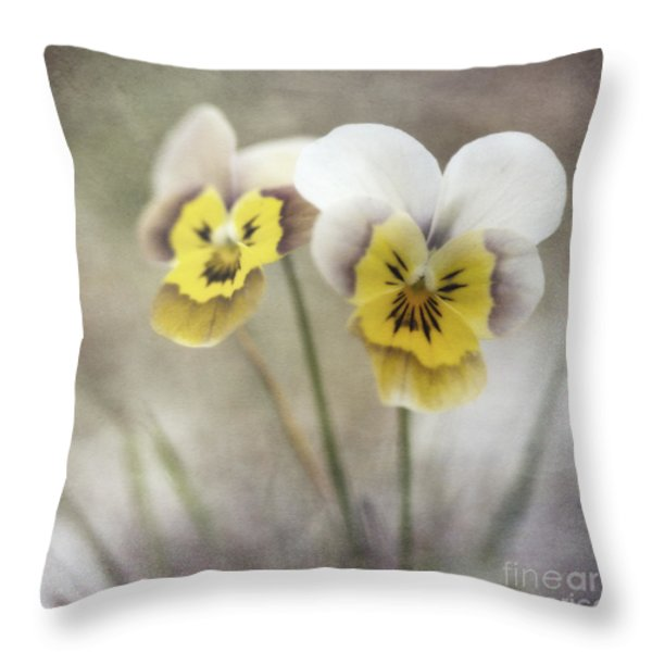 growing wild Throw Pillow by Priska Wettstein