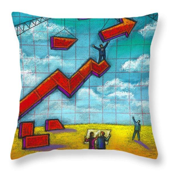 Growth Throw Pillow by Leon Zernitsky