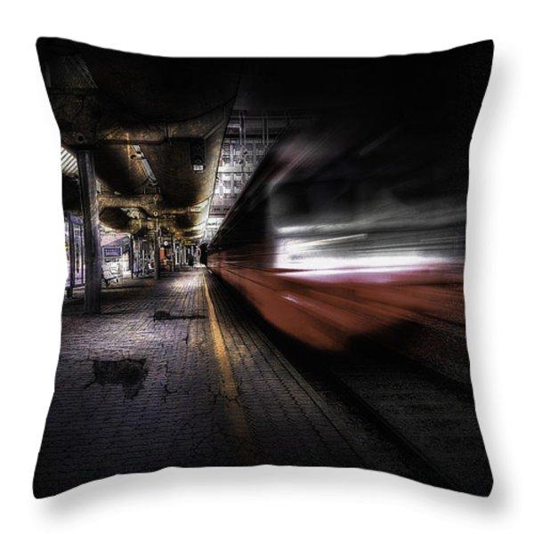 Grunge Art Part III - Runaway Train Throw Pillow by Erik Brede