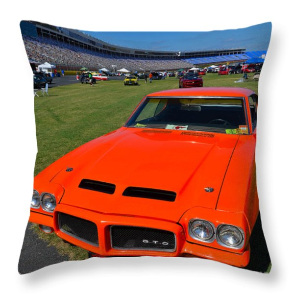 Gto At The Racetrack Throw Pillow by Mark Spearman