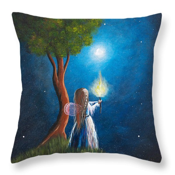Guardian Of Light by Shawna Erback Throw Pillow by Shawna Erback