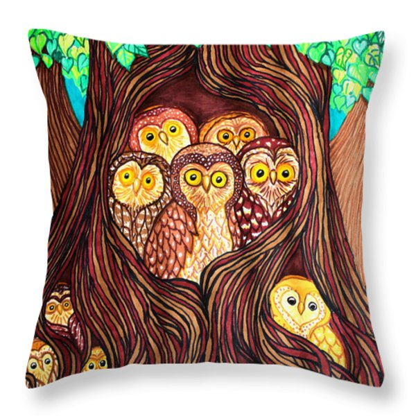 Guardians Of The Forest Throw Pillow by Nick Gustafson