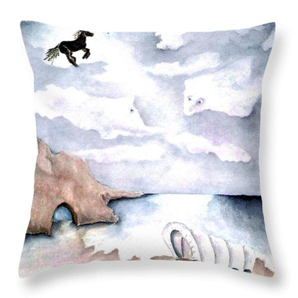 Guardians Throw Pillow by Pamela Allegretto