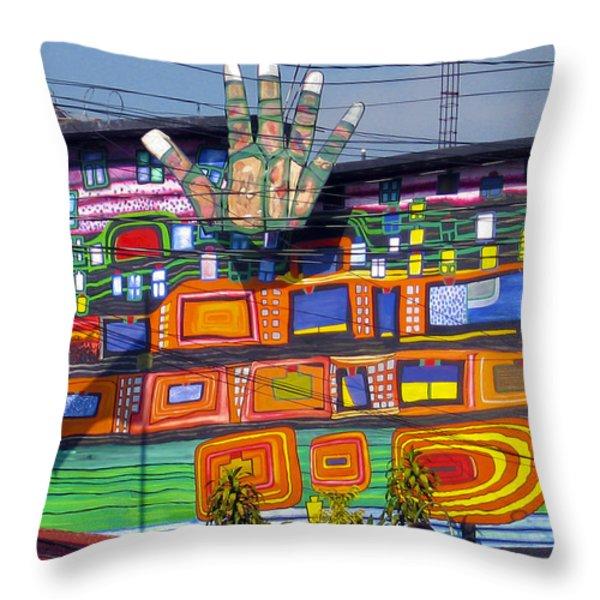 Guatemala Street Art 1 Throw Pillow by Kurt Van Wagner