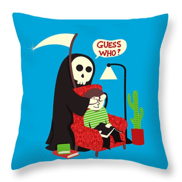 Guess Who Throw Pillow by Budi Satria Kwan