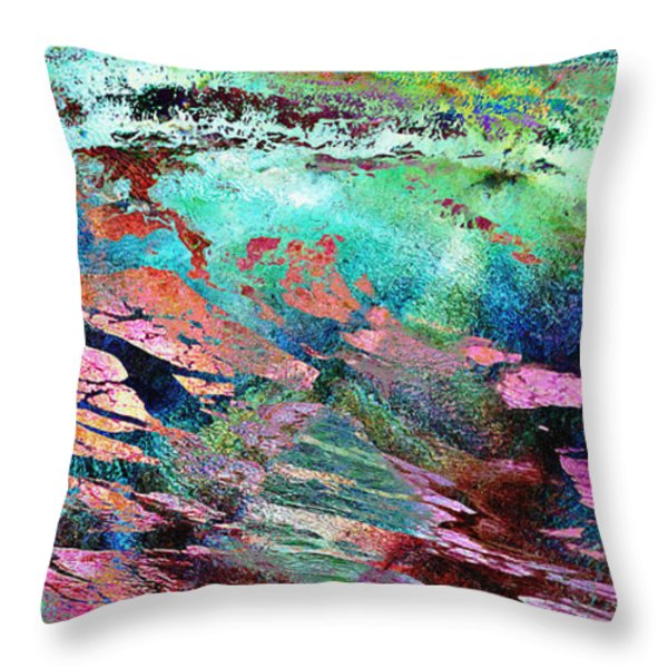 Guided By Intuition - Abstract Art Throw Pillow by Jaison Cianelli