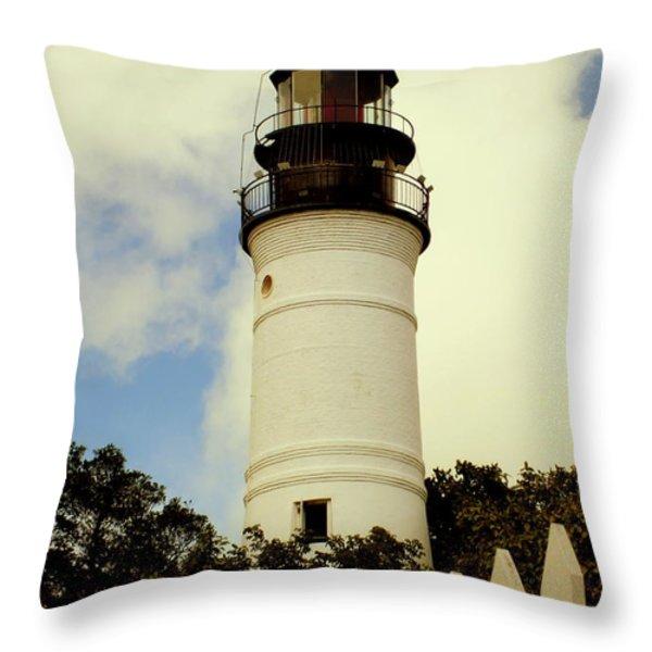 Guiding Light Of Key West Throw Pillow by Karen Wiles