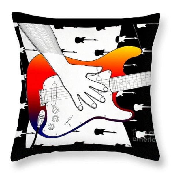 Guitar 1 Throw Pillow by Joseph J Stevens