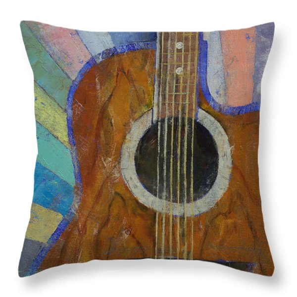 Guitar Sunshine Throw Pillow by Michael Creese