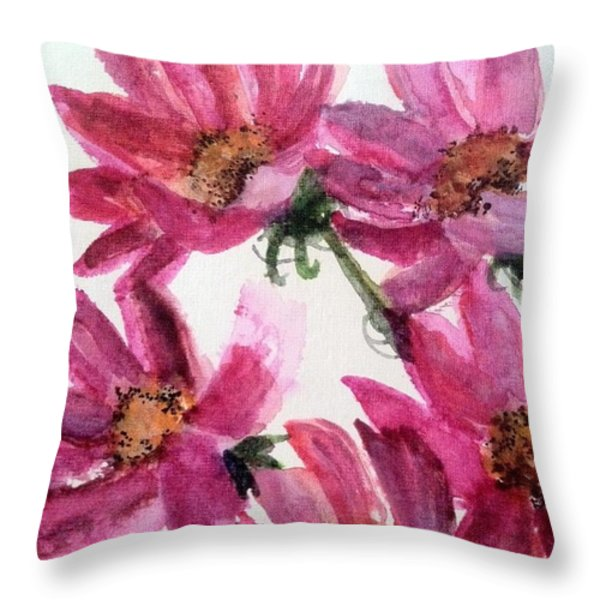 Gull Lake's Flowers Throw Pillow by Sherry Harradence