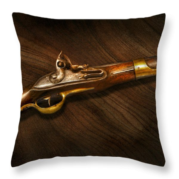 Gun - Pistols At Dawn Throw Pillow by Mike Savad