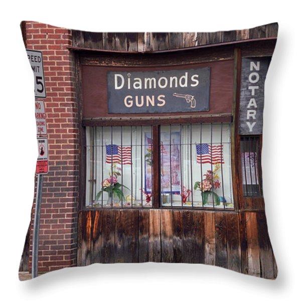Gun Shop Throw Pillow by Frank Romeo