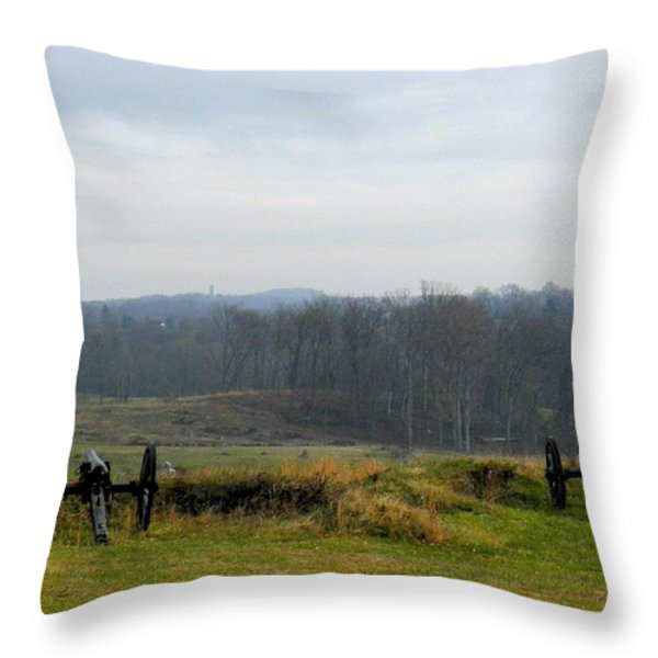 Guns Of Gettyburg Throw Pillow by Feva  Fotos