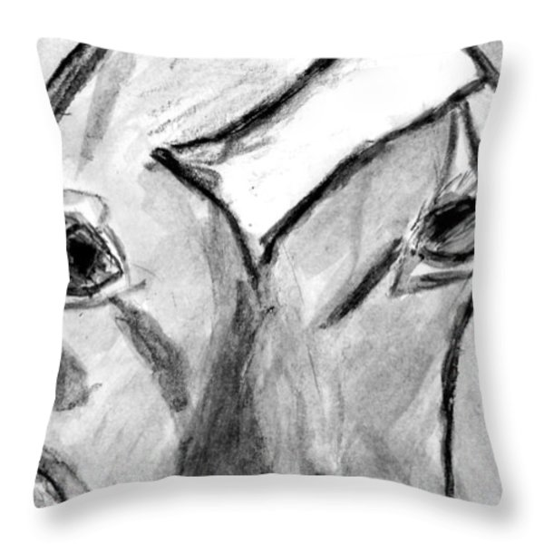 Gurnsey in the Window Throw Pillow by Elizabeth Briggs