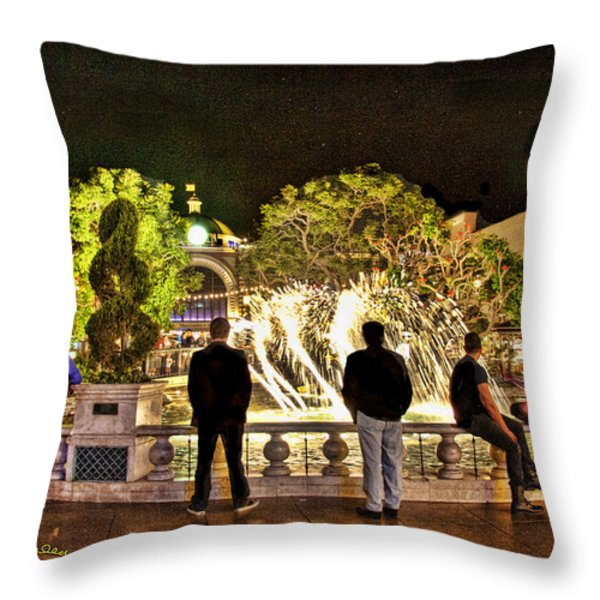Guys At The Grove Throw Pillow by Chuck Staley