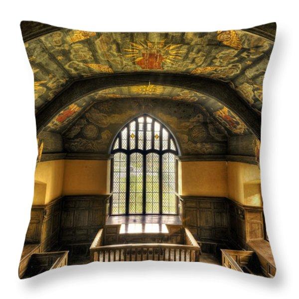 Gwydir Uchaf Chapel Conwy Valley Throw Pillow by Mal Bray