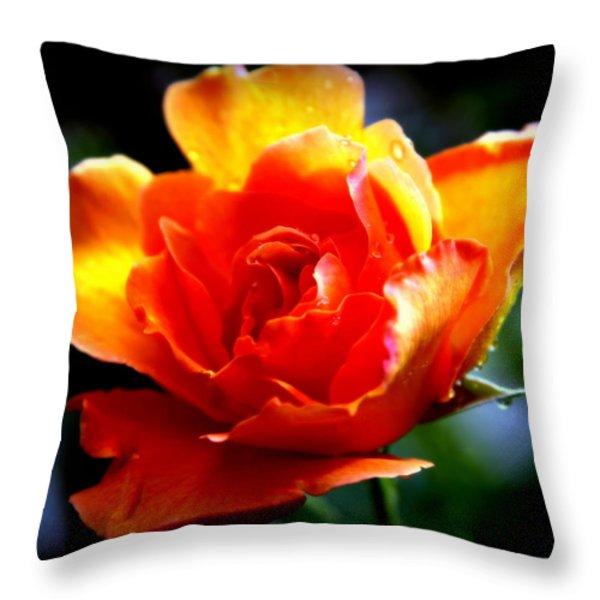 Gypsy Rose Throw Pillow by Karen Wiles