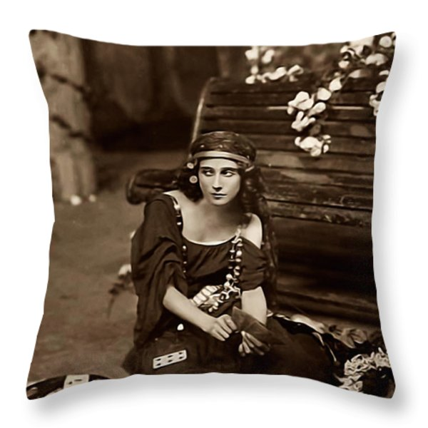 Gypsy Throw Pillow by Unknown