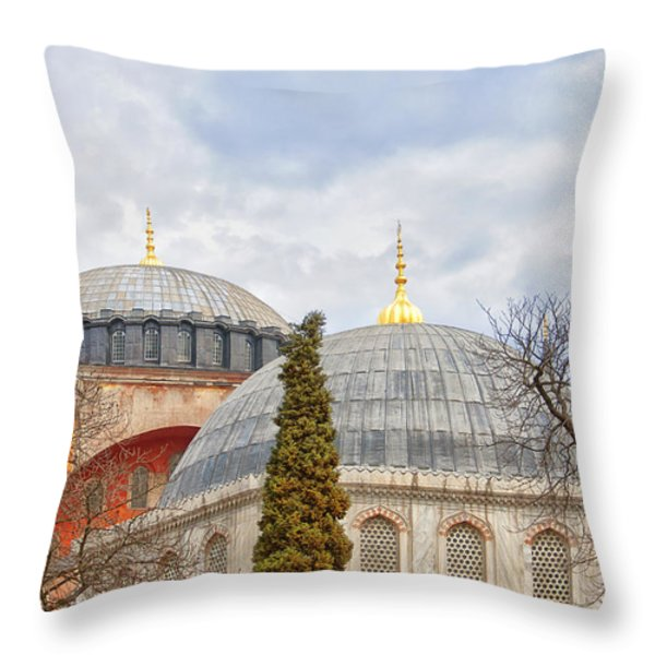 Hagia Sophia 11 Throw Pillow by Antony McAulay