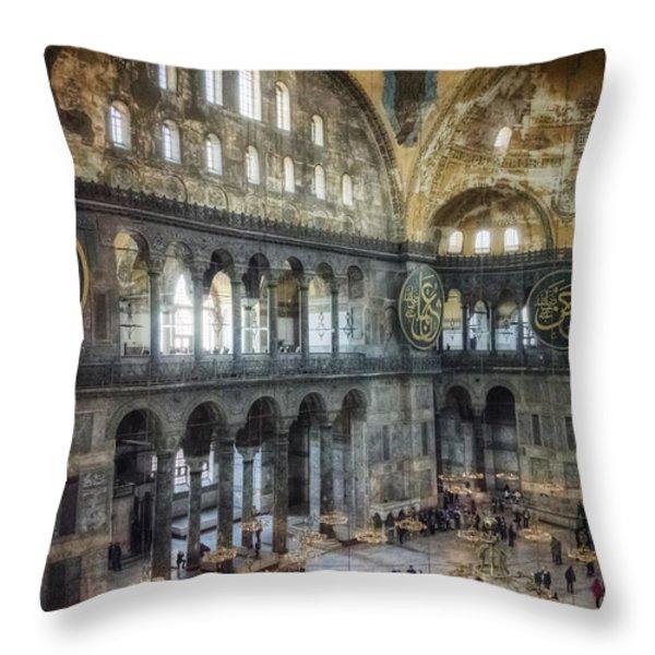 Hagia Sophia Interior Throw Pillow by Joan Carroll