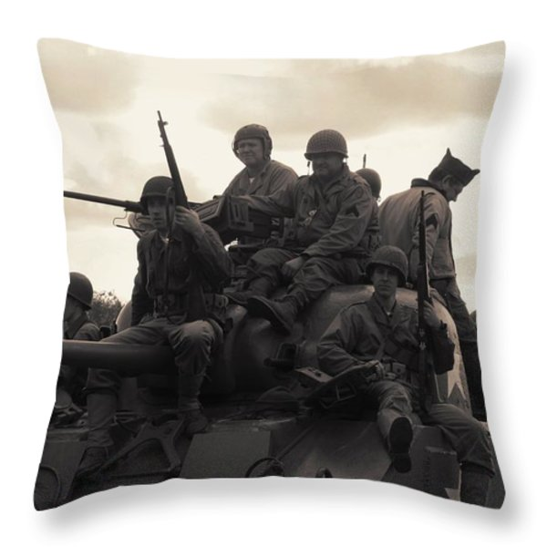 Hail to the Victors Throw Pillow by Lyle Hatch