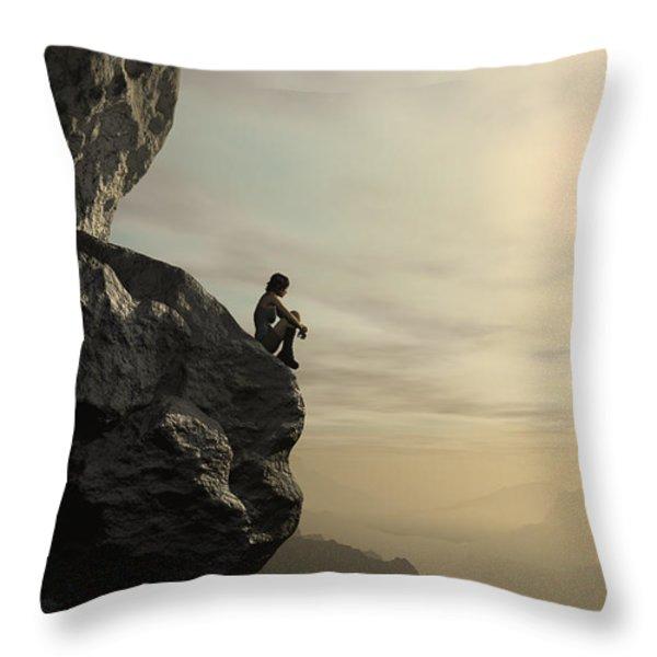 Halcyon Throw Pillow by Cynthia Decker