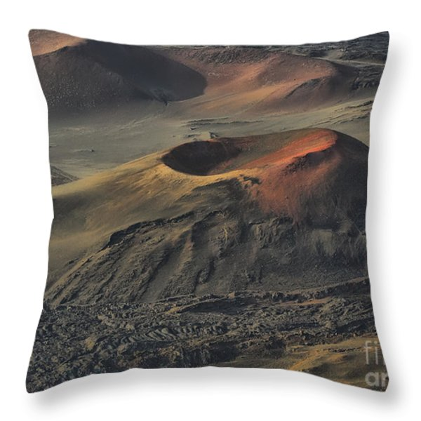 Haleakala Caldera Maui Hawaii Throw Pillow by Teresa Zieba