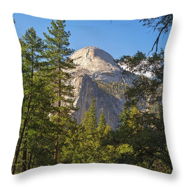 Half Dome Yosemite Throw Pillow by Jane Rix