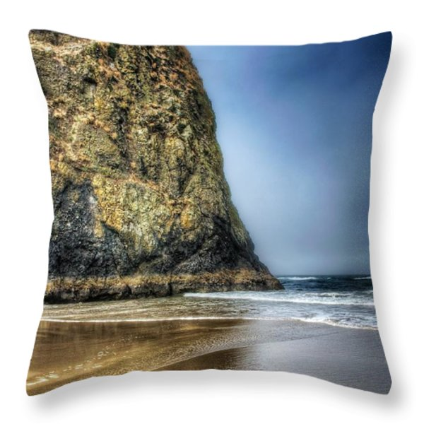 Half Stack Throw Pillow by Spencer McDonald