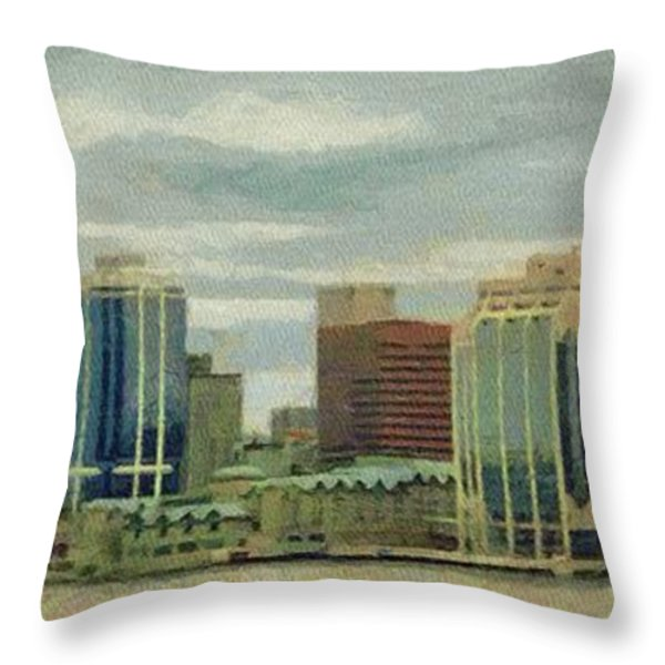 Halifax From The Harbour Throw Pillow by Jeff Kolker