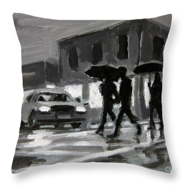 Halifax Untitled Number Five  Throw Pillow by John Malone